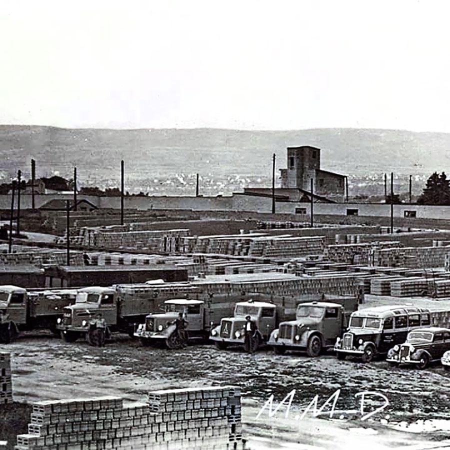 Bimsfabrik in den 50er-Jahren